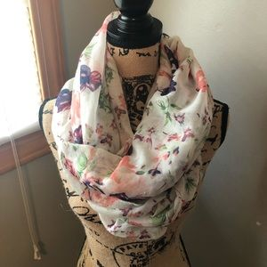 Charlotte Russe Floral Infinity Scarf
